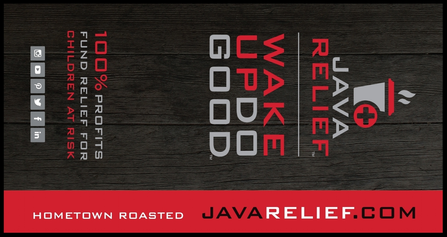 Side one of the Java Relief info card that comes with each bag sold.
