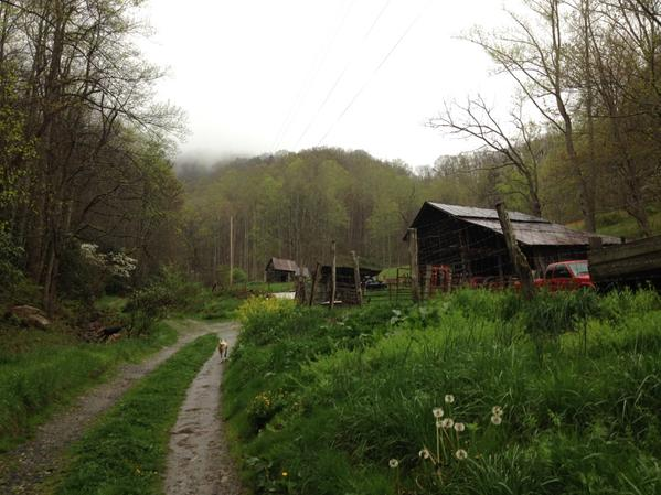 Joseph Lee was born in Big Sandy Mush, NC, and grew up on this mountain farm in Little Sandy Mush, NC (Madison County)