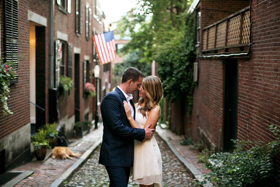 Boston Engagement Photo