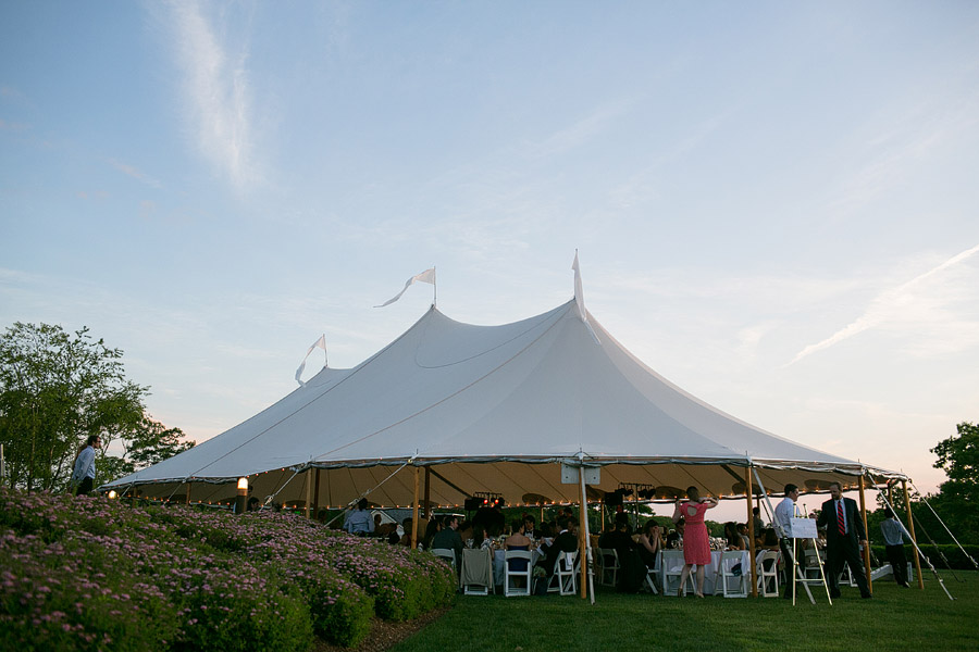 Sperry Tent at Shelter Harbor Golf Club Wedding