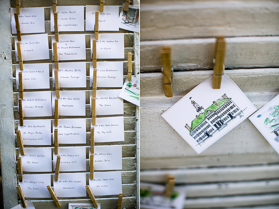The Inn At the Round Barn Wedding Table Cards