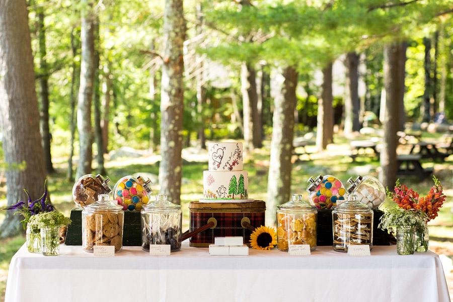Sandy Island Camp Wedding Desert Table