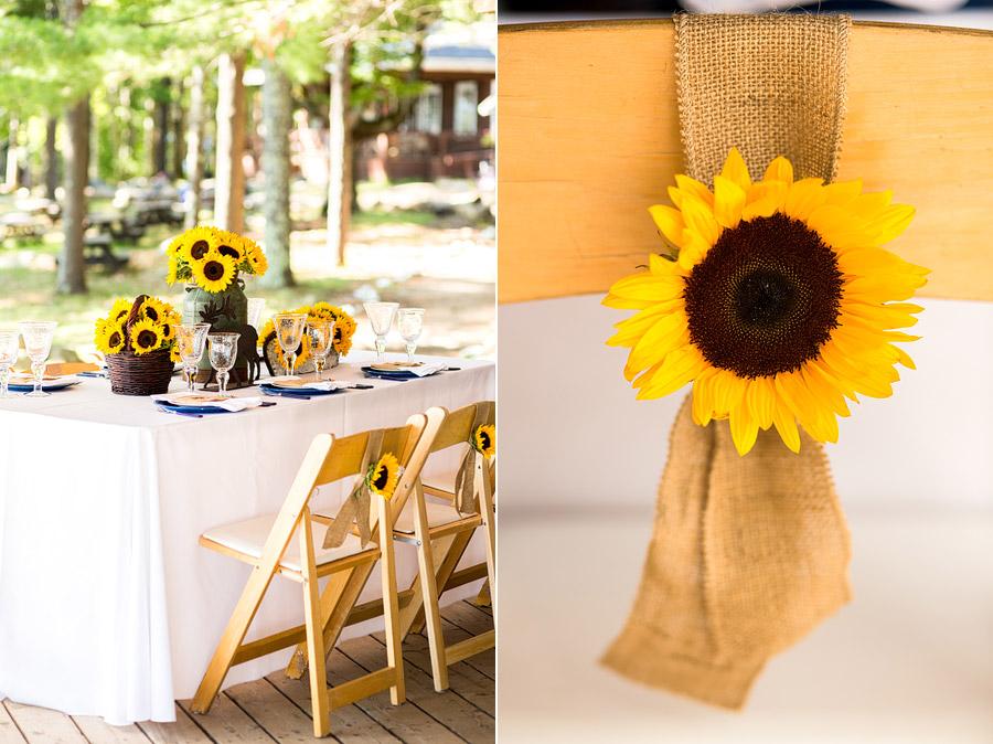 Sandy Island Camp Wedding Decor