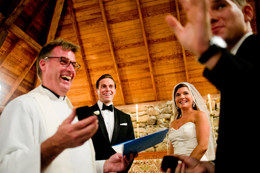 Wedding Ceremony at Lake Sunapee Yacht Club