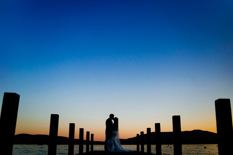 Wedding Portrait Lake Sunapee Yacht Club