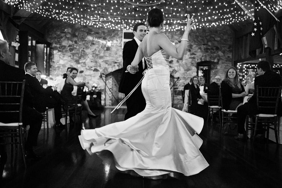 Dancing at Lake Sunapee Yacht Club Wedding