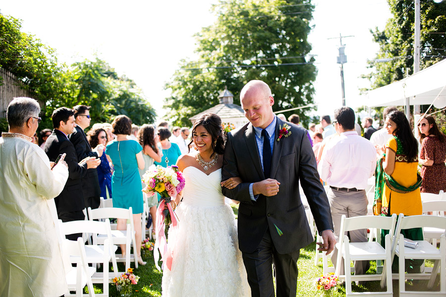 The In on Peaks Island Wedding Ceremony