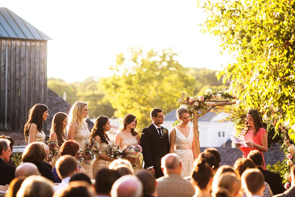 Red Lion Inn Wedding Ceremony Photographs