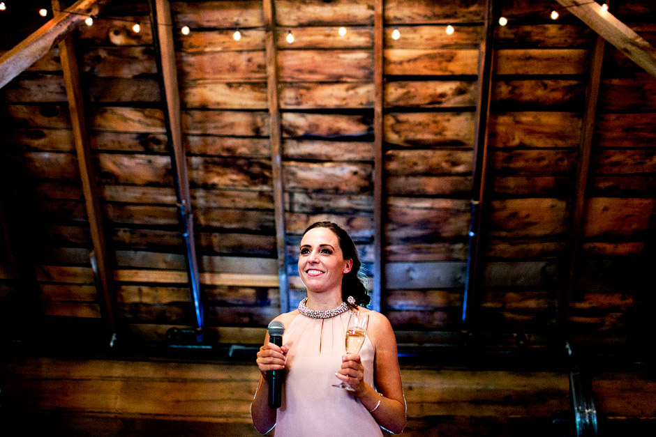 the inn at the round barn wedding toast