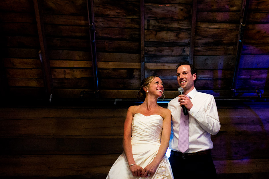 the inn at the round barn wedding speech
