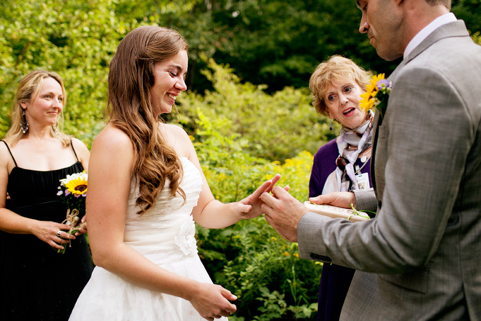 wedding ceremony backyard nh