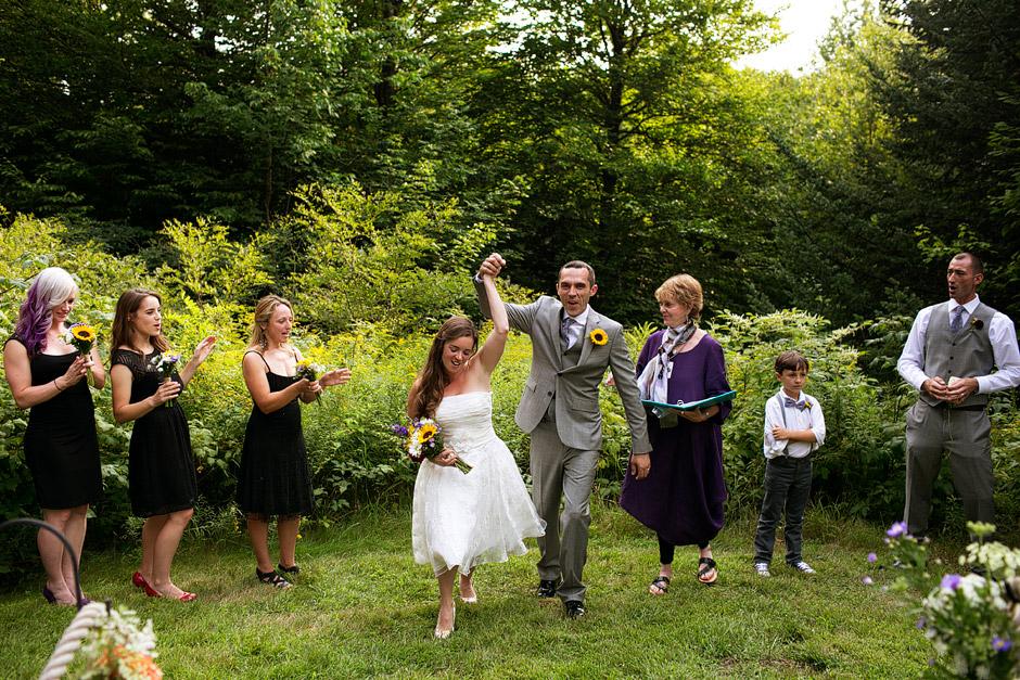 outdoor wedding ceremony nh