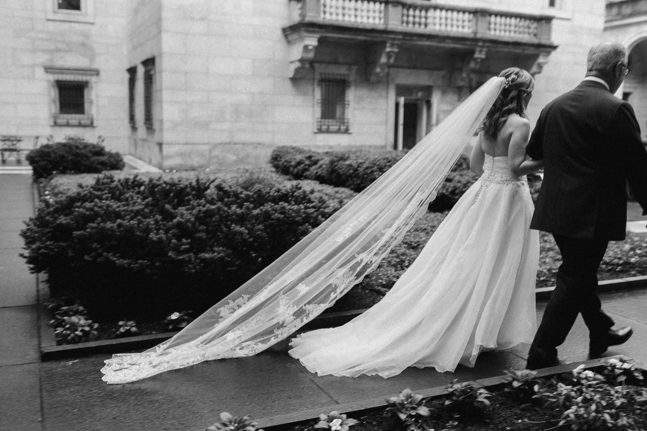 Boston Public Library wedding photo