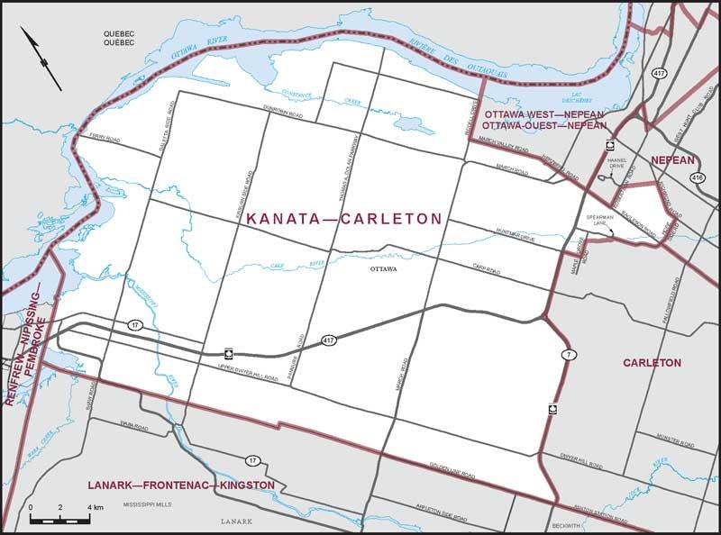 Kanata-Carleton (note the north arrow)