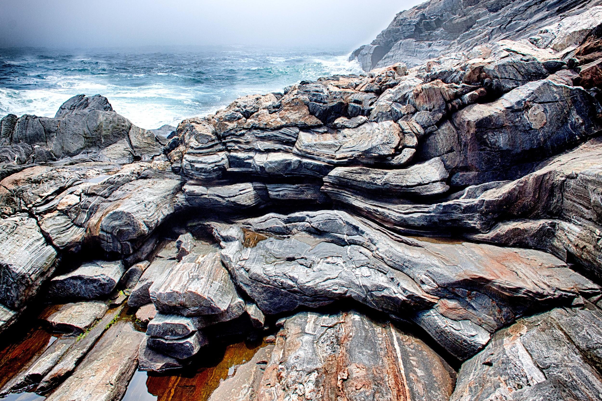 Pemaquid Point Dramatic Rocks