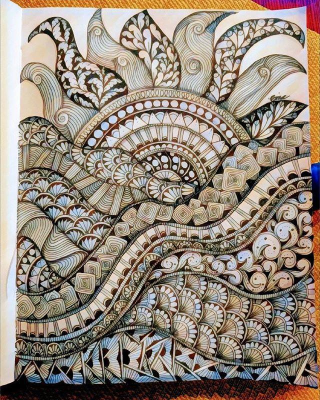 Zen sunrise... #sunrise #rollinghills #zentangle #doodle #drawing #art #ink #instagram #artistoninstagram #coloringbook #zendoodle #lovezen #zendoodle  #zenart #artgallery #artstagram #inkartist  #freehand #sketch #instartpics