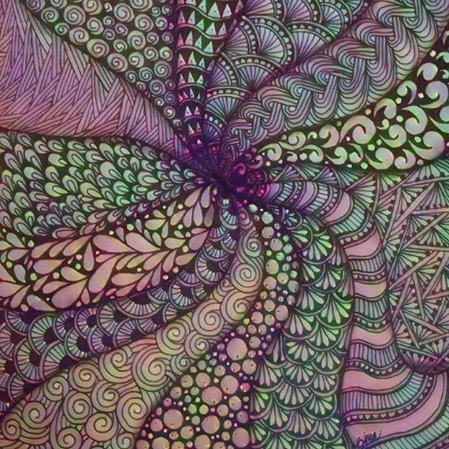 Random Doodling #zentangle #lovezen #zendoodle  #zenart #artgallery #artstagram #inkartist #ink #freehand #sketch #instartpics #instagram #mandalas #mandala #mandalamaze #zentanglekiwi  #mandalauniverse #mandalala #zen #drawing #colors #zendala #artistoninstagram
