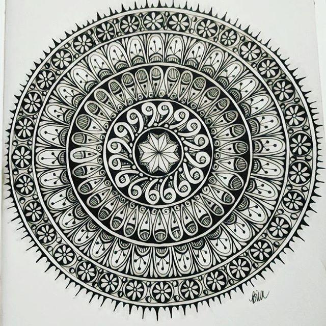 Love drawing Mandalas #zentangle #lovezen #zendoodle  #zenart #artgallery #artstagram #inkartist #ink #freehand #sketch #instartpics #instagram #mandalas #mandala #mandalamaze #zentanglekiwi  #mandalauniverse #mandalala #zen #drawing #colors #zendala #artistoninstagram