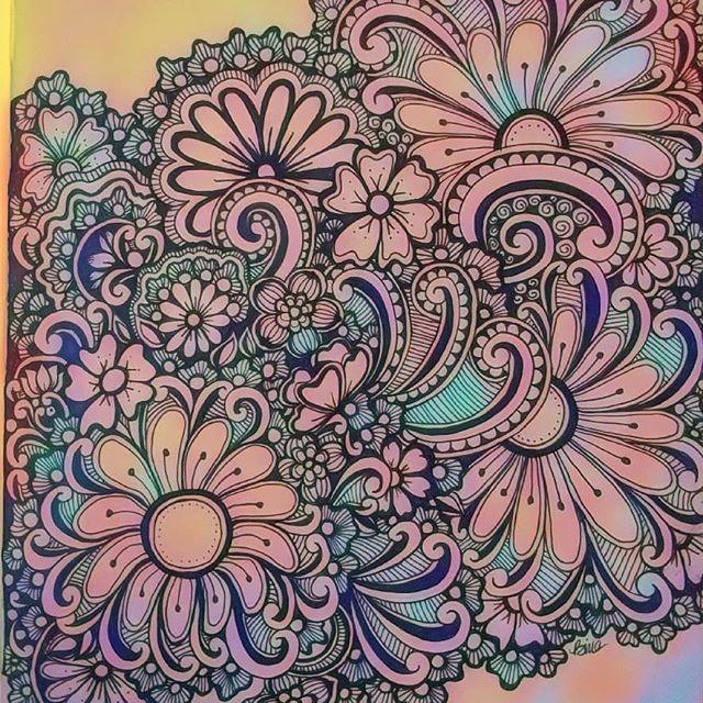 A doodle to relieve some stress... #zentangle #lovezen #zendoodle  #zenart #artgallery #artstagram #inkartist #ink #freehand #sketch #instartpics #instagram #mandalas #mandala #mandalamaze #zentanglekiwi  #mandalauniverse #mandalala #zen #drawing #colors #zendala #artistoninstagram #relax #stressbuster