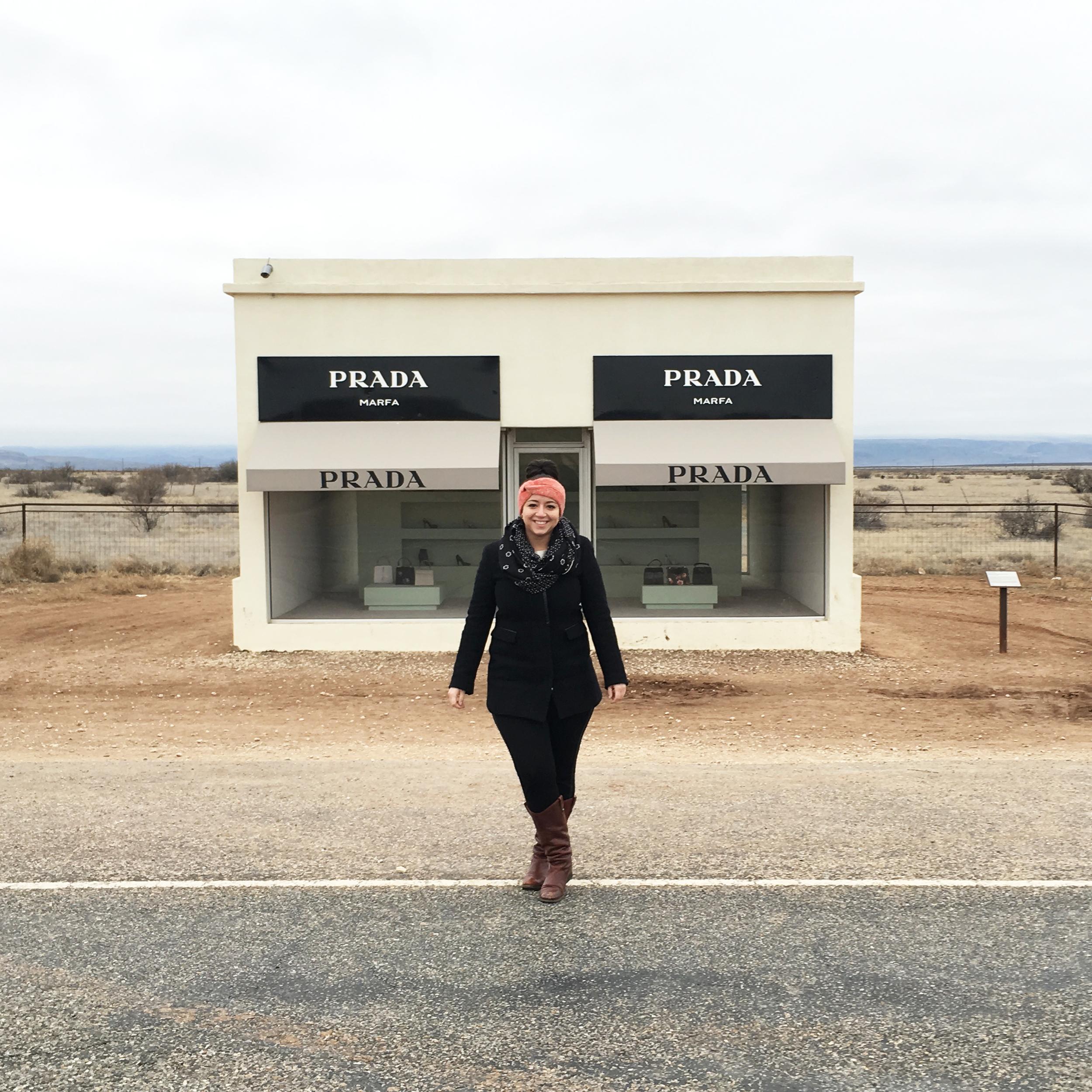 """Prada Marfa"" permanent art installation — Marfa, Texas"