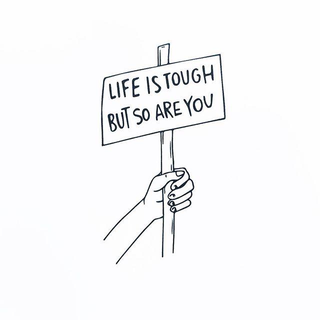 #motivation & #illustration by fellow #chronicpain warrior @lj_dyer ✊