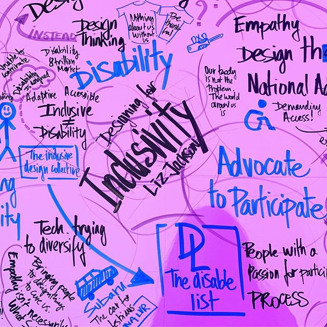 discussing designing with/for #disability at the @3percentconf in #Chicago ♿� understanding that our bodies weren't designed wrong, the world just wasn't designed for our bodies. #chronicillness #creativity