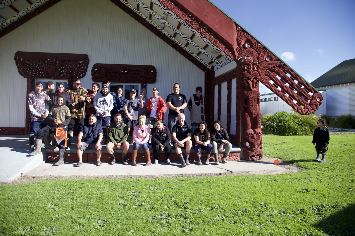 Awesome learning on the Marae.