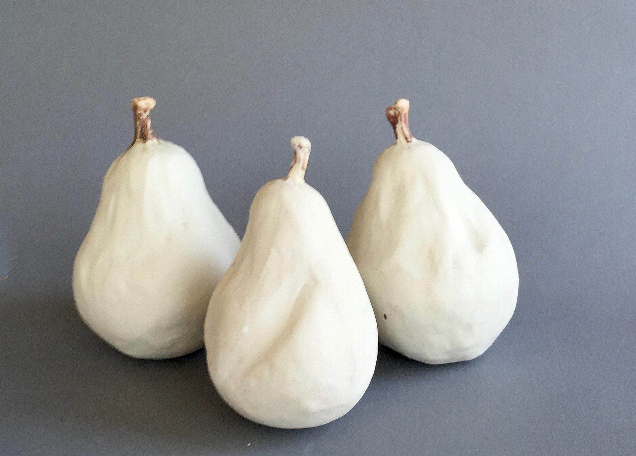 Three White Pears