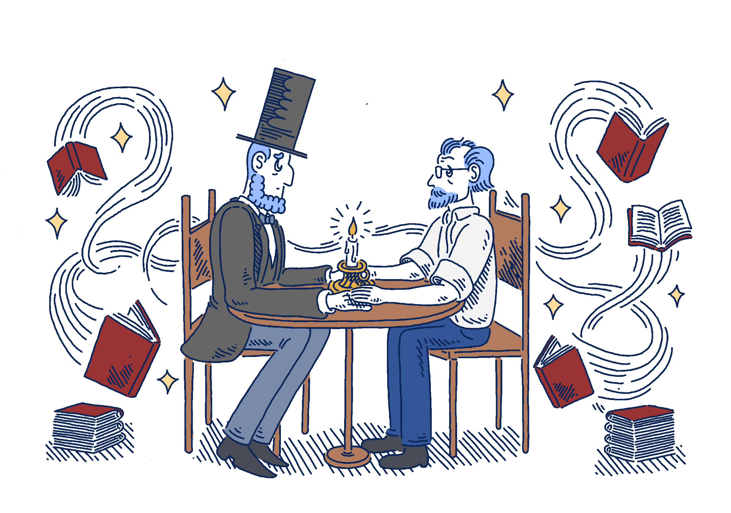 Abraham Lincoln and George Saunders