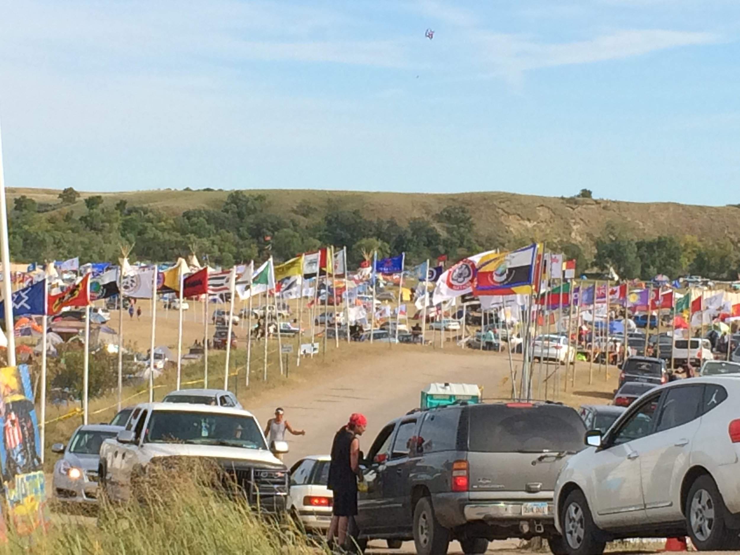 Arriving at Oceti Sakowin Camp in September.