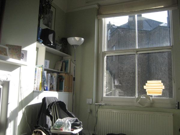 Max's flat. London.