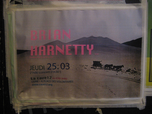Odd homemade poster made by someone for a show in Geneva, Switzerland. Nice!