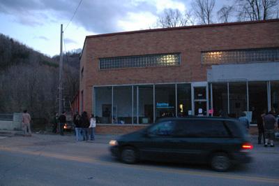 Outside Appalshop, Whitesburg, Kentucky.