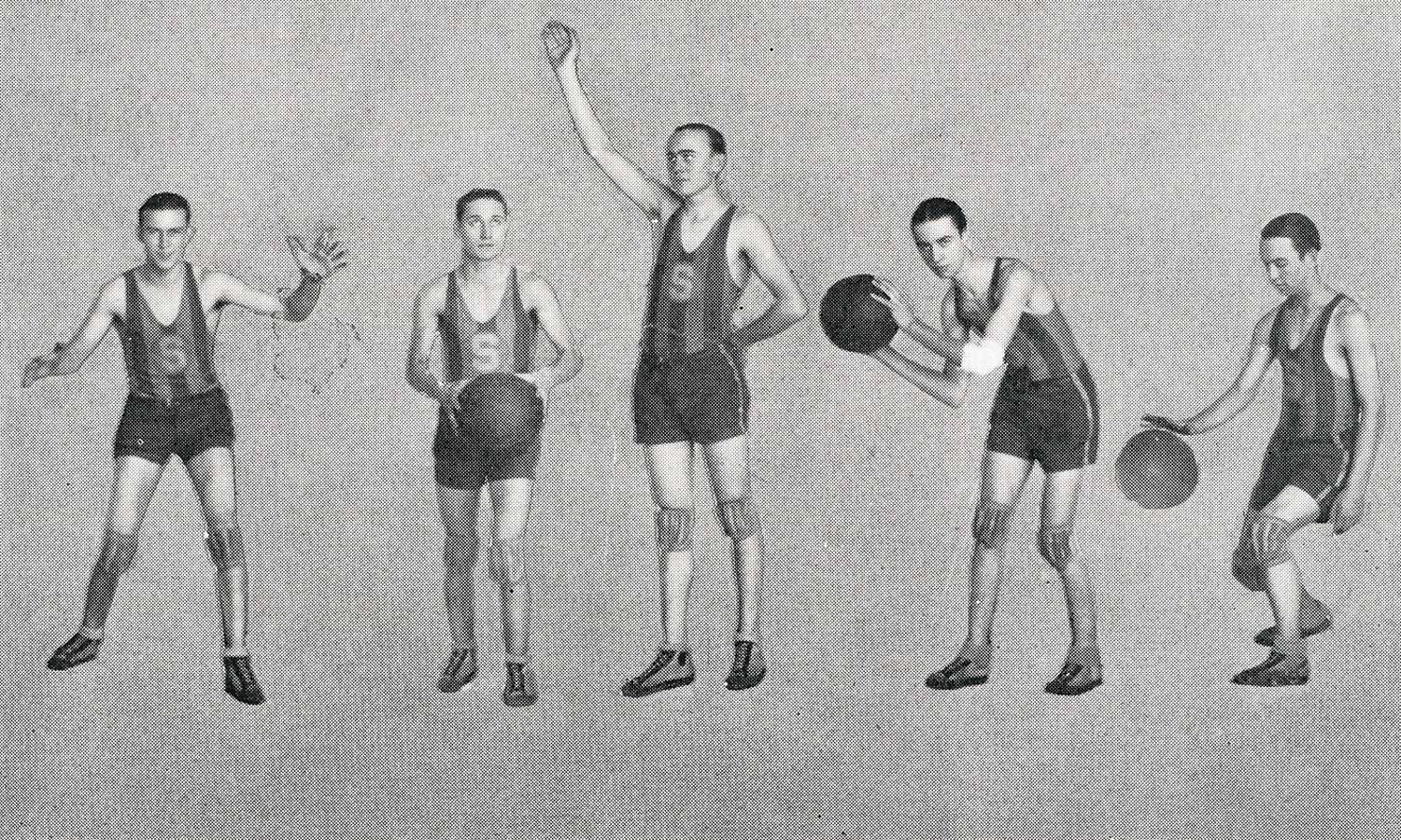 The Shawnee High School basketball team, 1925. My grandfather is second from the right.