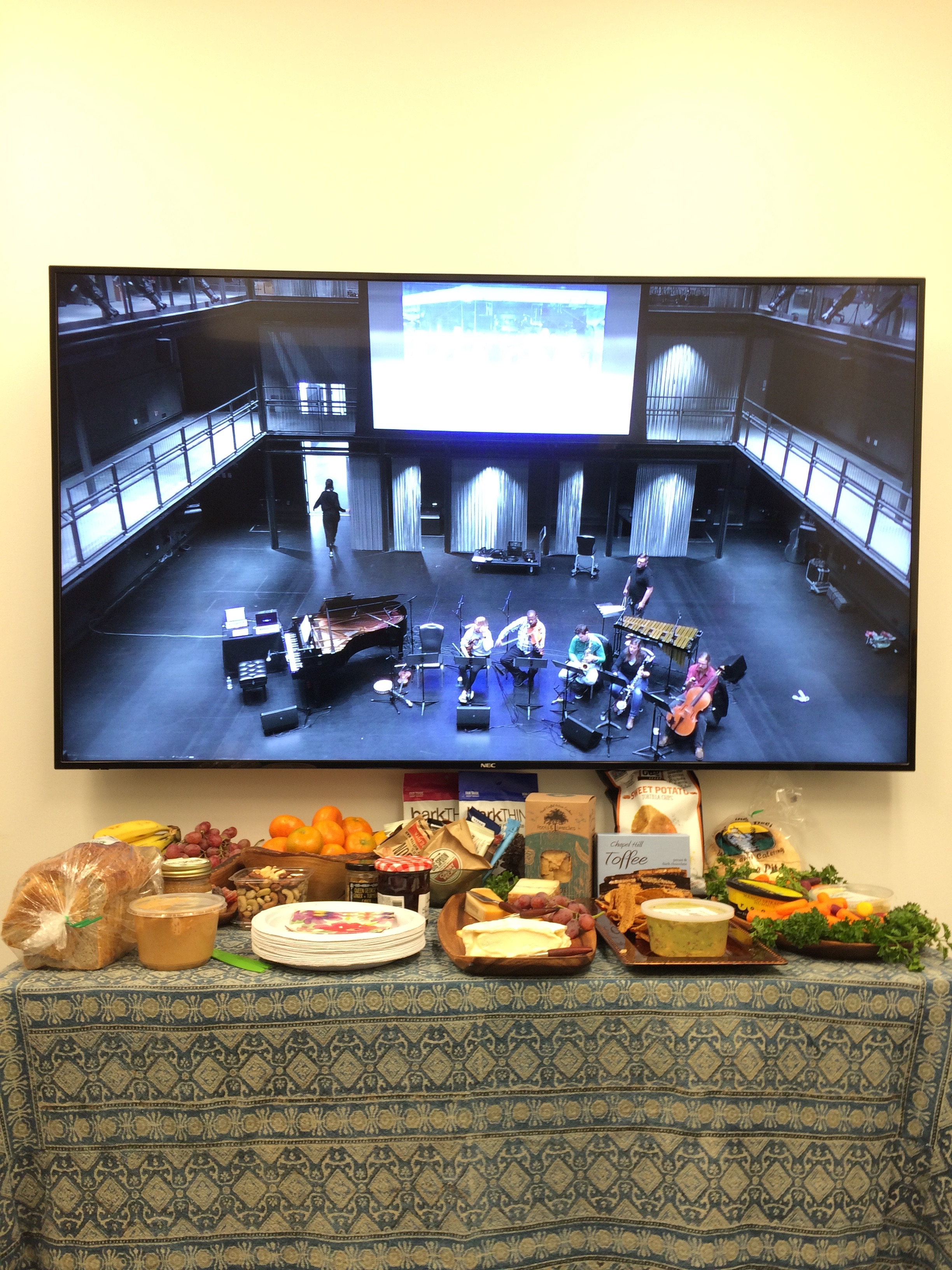 From the Green Room: the hospitality was outstanding, and we could monitor the performance from the live video feed.