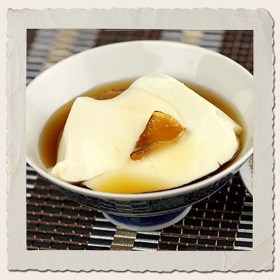 Silken Tofu in Ginger Syrup with Orange