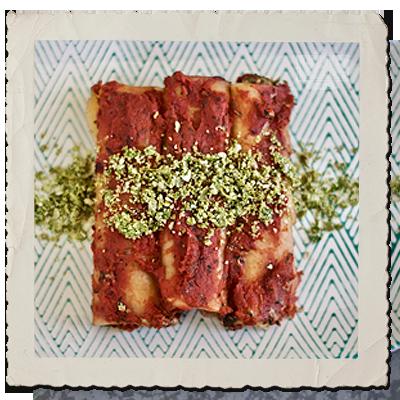 Momen & Spinach Cannelloni