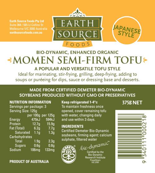 Momen Semi Firm Tofu