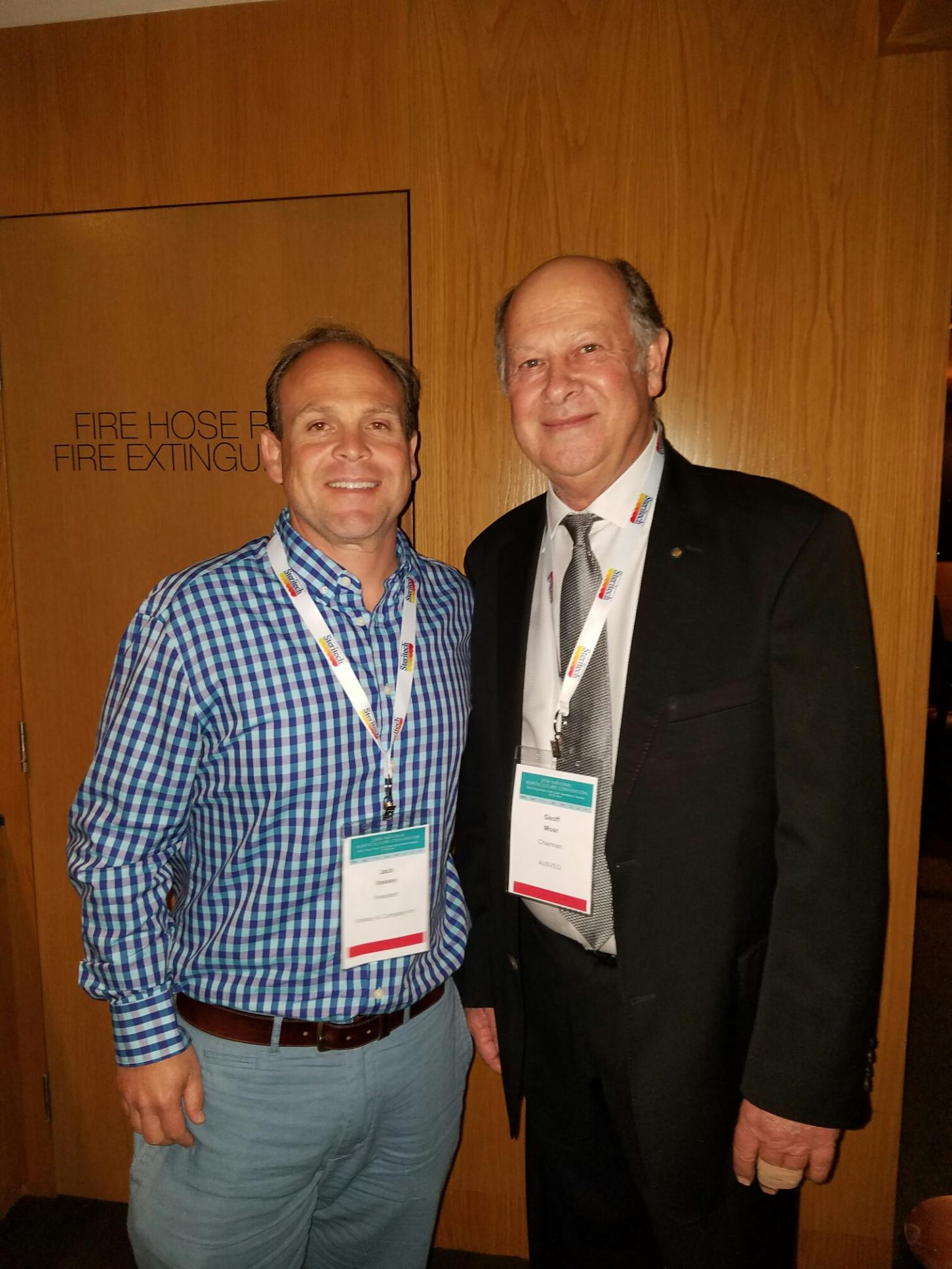 Jack with Geoff Moar, Chairman of AUSVEG Board of Directors