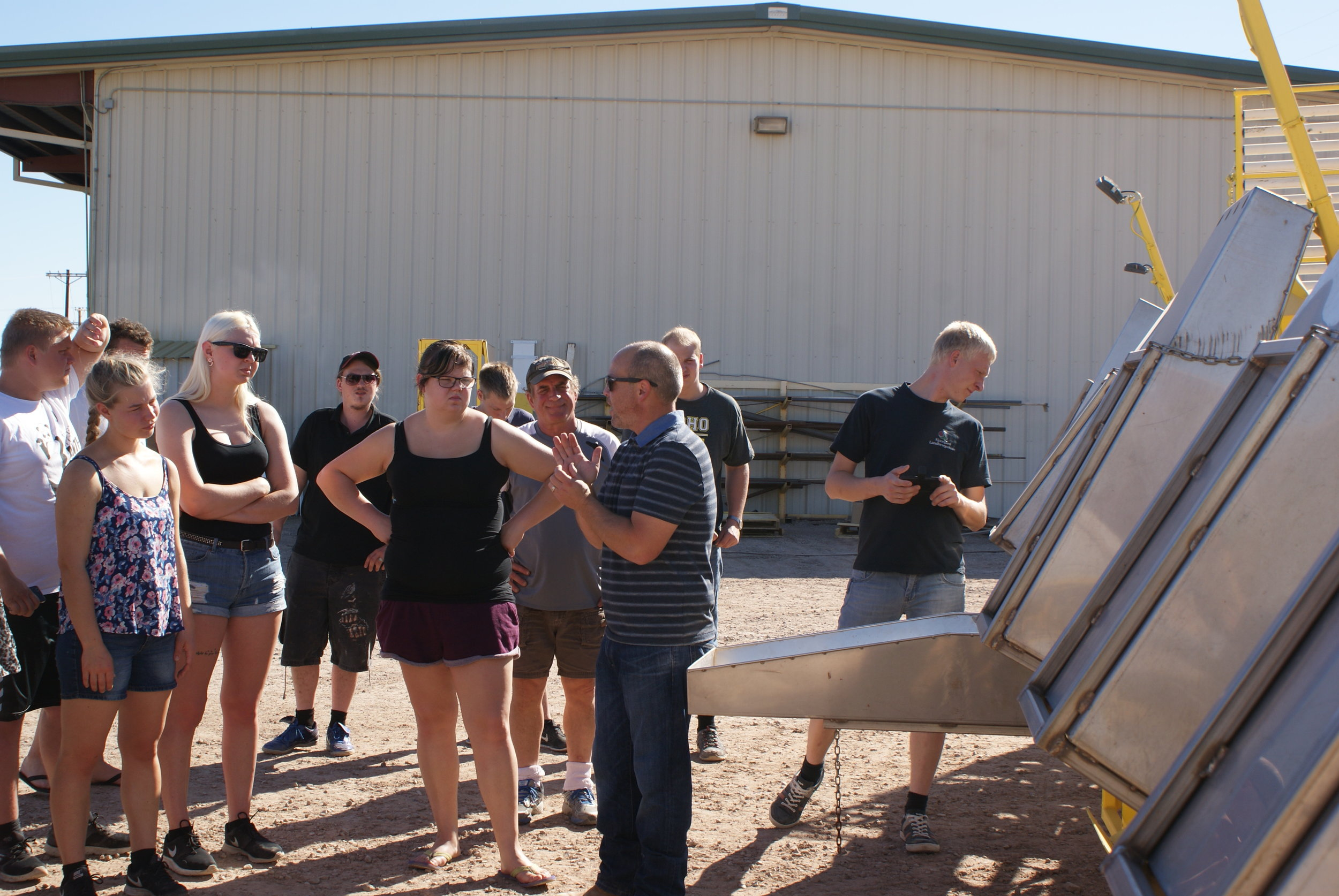 Students got up close and personal with the cabbage machine
