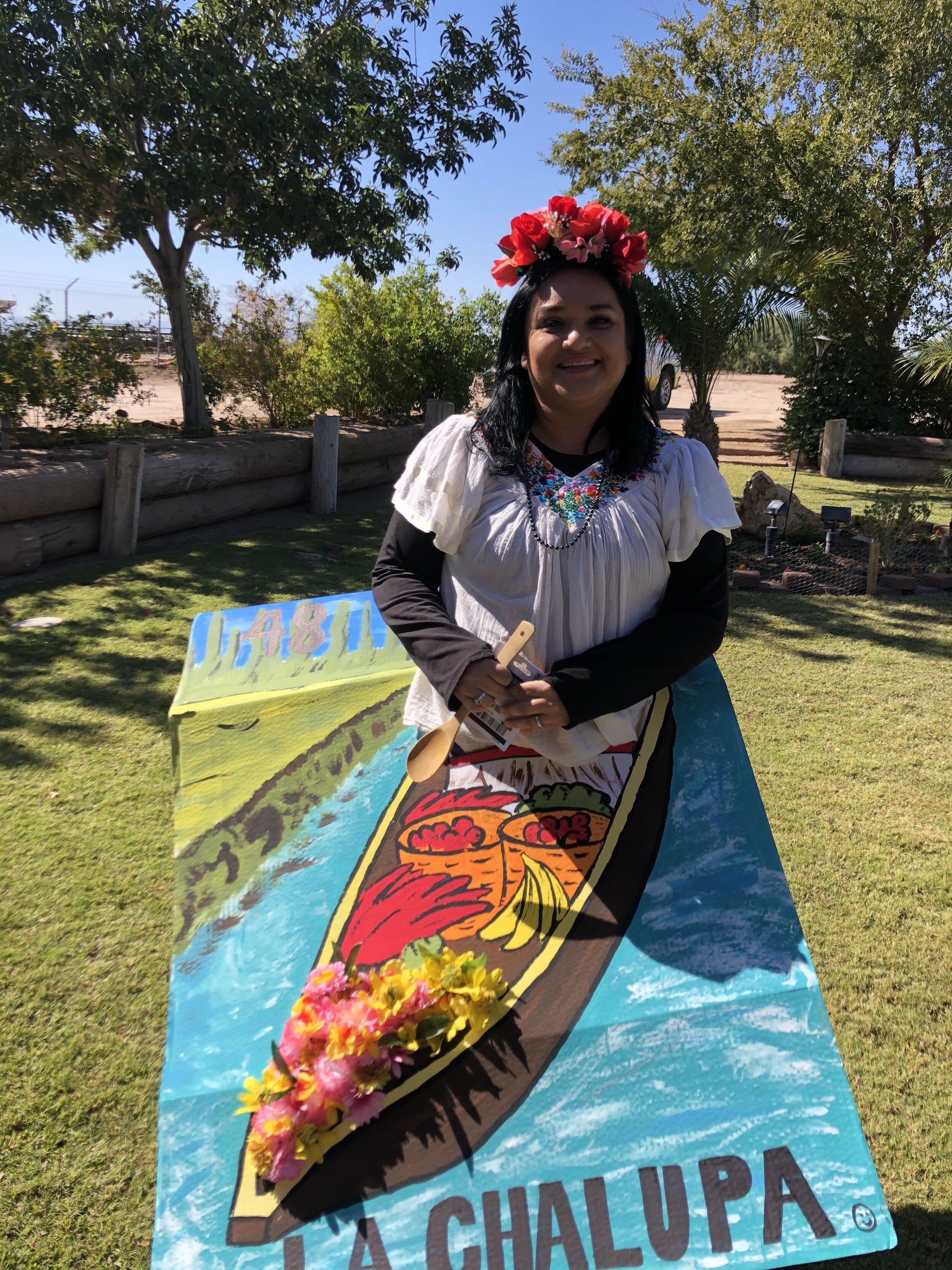 Winner of the costume contest, Adriana Castro!