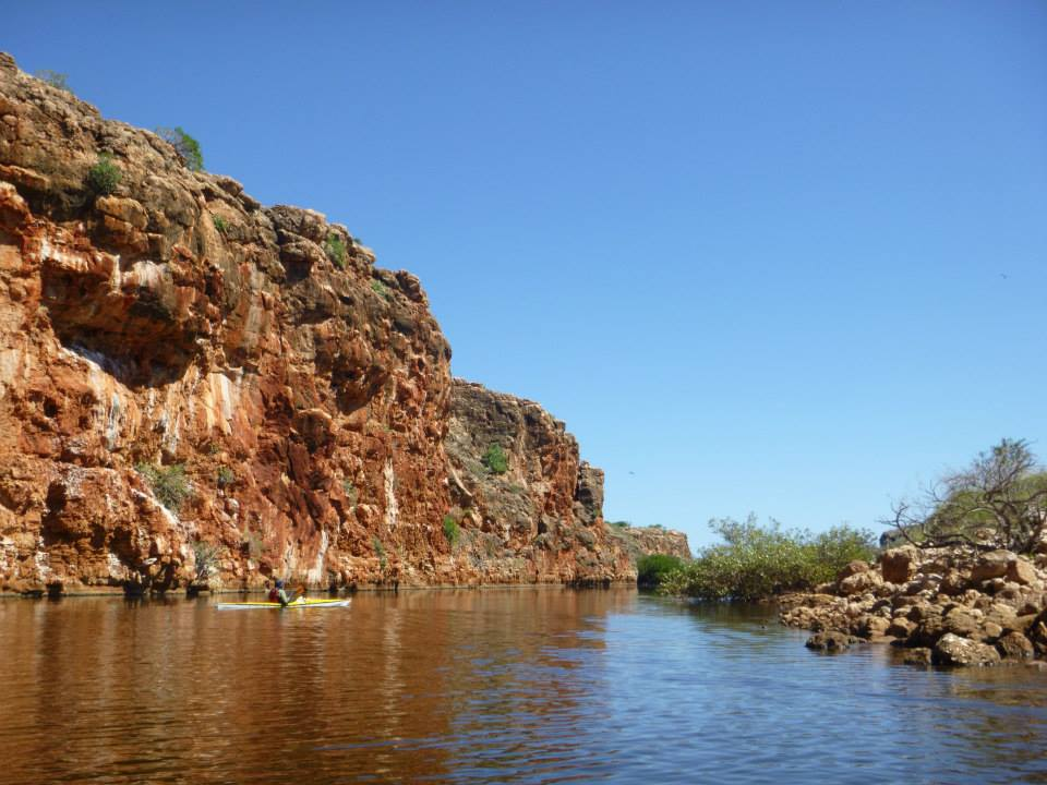 Magnificent coloured cliffs at Yardie Creek