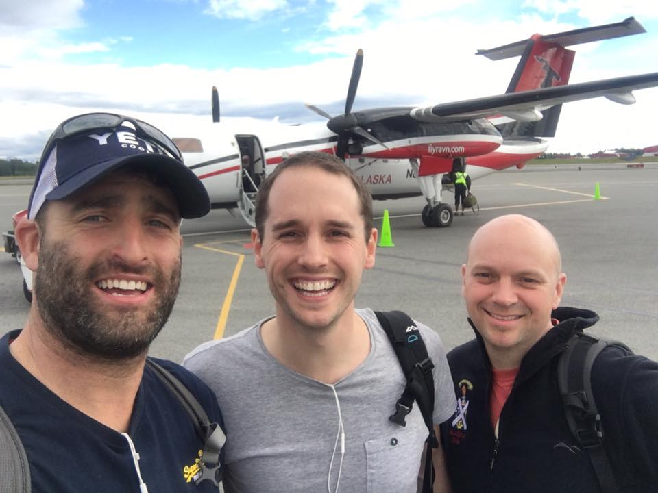 Hooked up with the team (the Boss, 2IC and me) for our last flight - Anchorage to Valdez - Ravn Alaska -DeHavilland DHC-8-100.