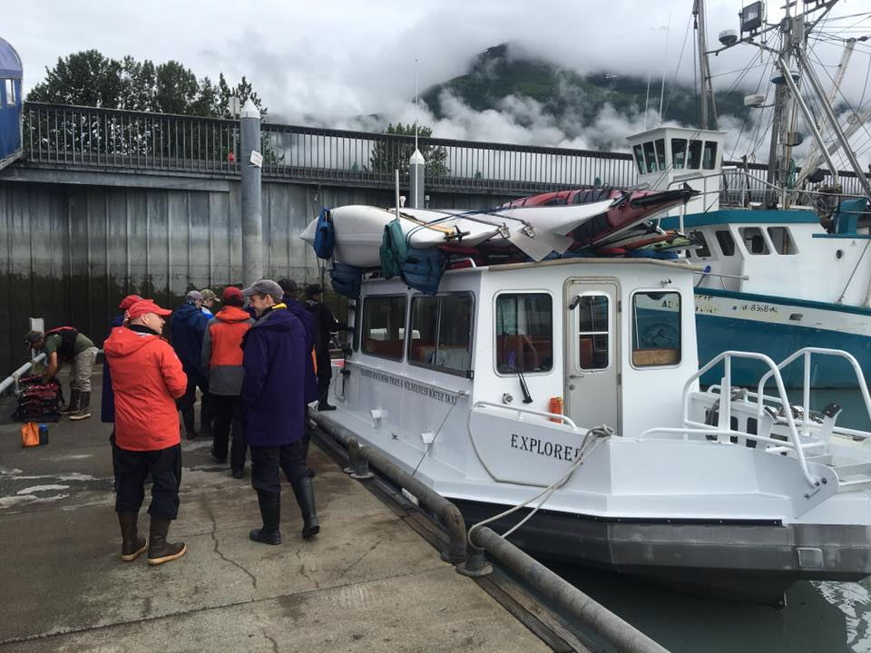 The  Explorer is loaded with all our equipment and provisions in Valdez harbour, bound for the heart of Prince William Sound, Alaska.