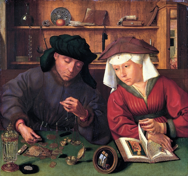 The Moneychanger and his Wife . Quentin Massys, 1514. | Public Domain