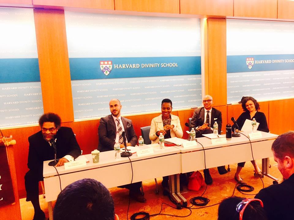 Pictured: Cornel West, Devin Singh, Todne Thomas, Andre Willis, Michelle Sanchez