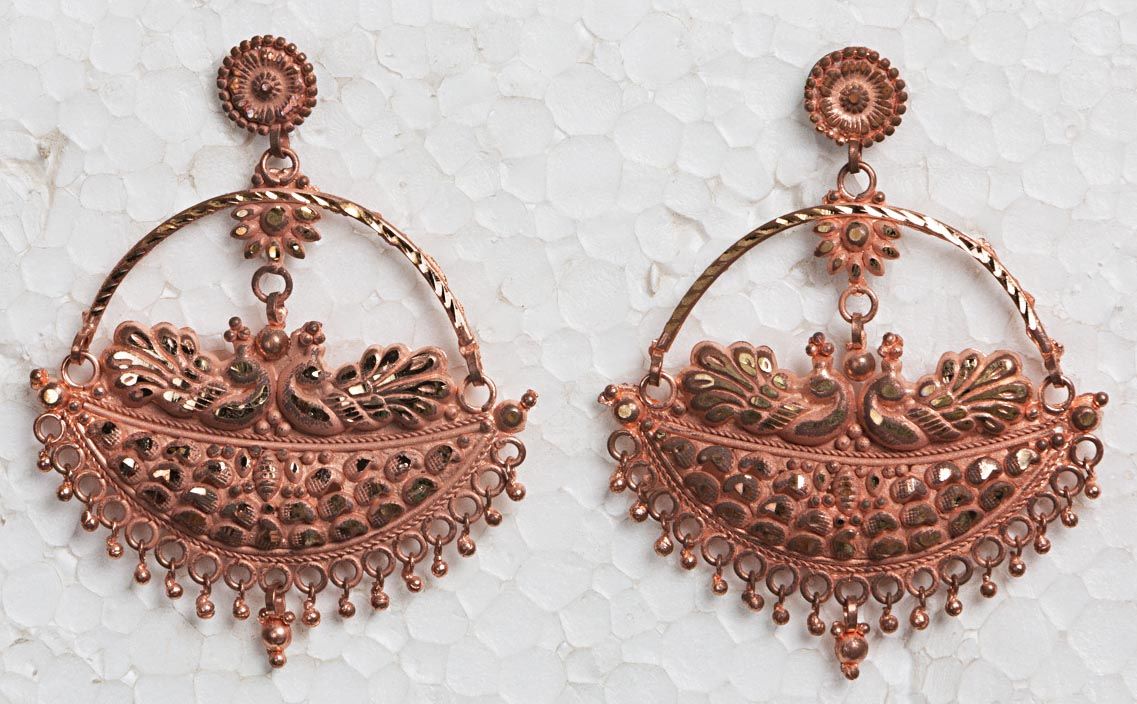 Copper Chandelier Ear rings.jpg