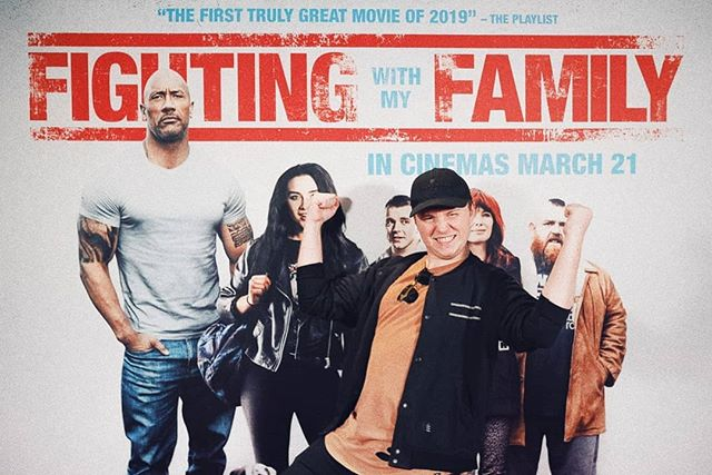 Pumping my imaginary muscles with wrestling royalty! Should proabably set some serious gym goals to keep up with @realpaigewwe and @therock 💪  #FightingWithMyFamily hits cinemas March 21st 📅 #universalpictures #newzealand #film #advancescreening