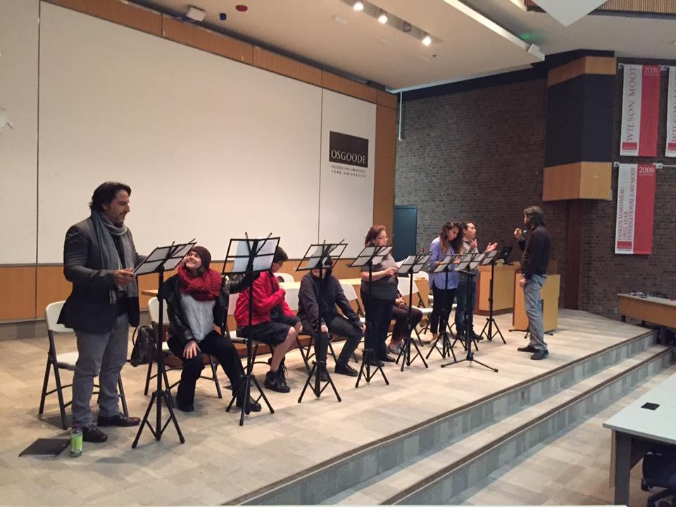Stage reading, York University, Toronto, 2017