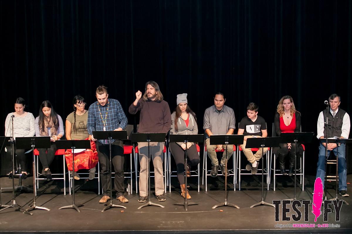 Stage reading, VIU, Nanaimo, 2016